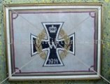 WW. 1 Iron Cross embroidery on canvas (sampler).