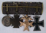 Bavarian four medals set.