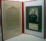Photo with autograph card and signature of H. Himmler.