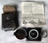 Compass with original instructions and case.