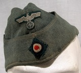 German army (Heer) enlisted man and NCO field cap.