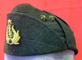 Black service cap for an M.V.S.N.'s Officer.
