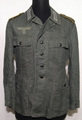 German tunic in cotton cloth for a signal corps private in WW2.