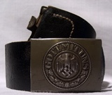 German belt for soldiers (Heer) with iron buckle