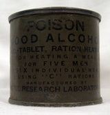 Ration heating fuel tin.