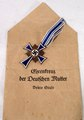 Cross of honor for the German mothers in bronze with envelop.