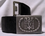 Belt with aluminium buckle of the German Red Cross