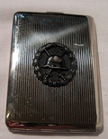 Cigarette case with wounded badge WW.1
