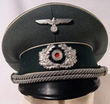 """Jager Regiment"" officer's visor cap."